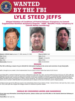 The FBI is offering up to a $50,000 reward for information on Lyle Jeffs.