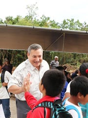 Gov. Eddie Calvo meets area youths after announcing
