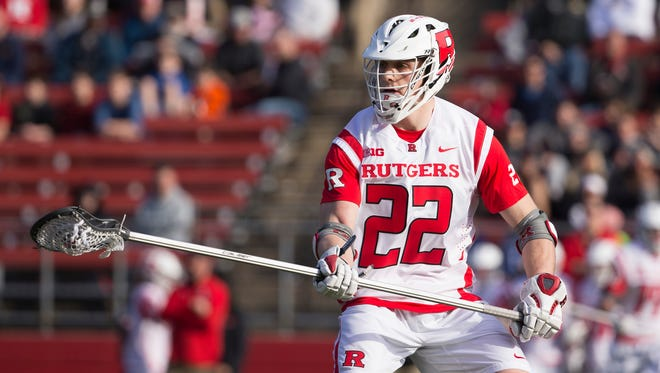 The Rutgers Scarlet Knights men's team earned a No. 1 ranking in the latest Maverik media national lacrosse poll the week beginning March 20, 2017. It was a first for the program.