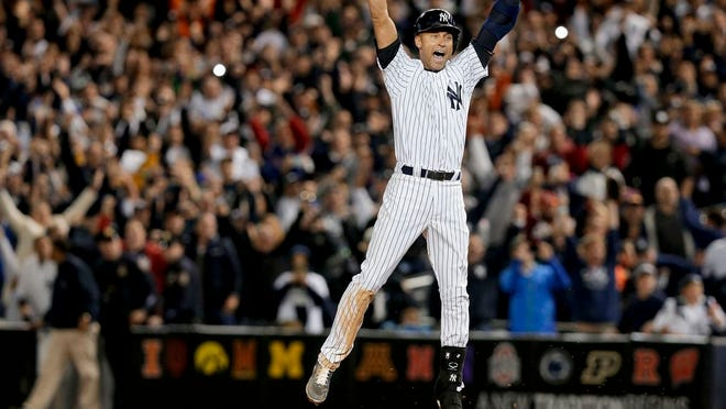 Yankee great Derek Jeter was voted to the Hall of Fame on Tuesday, appearing on 396 of 397 ballots.
