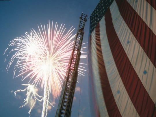 Ridgewood July 4th fireworks.