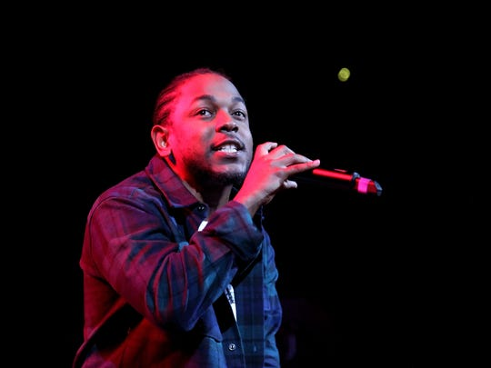 Kendrick Lamar performs onstage during 105.1's Powerhouse 2015 at the Barclays Center on October 22, 2015 in Brooklyn, NY.