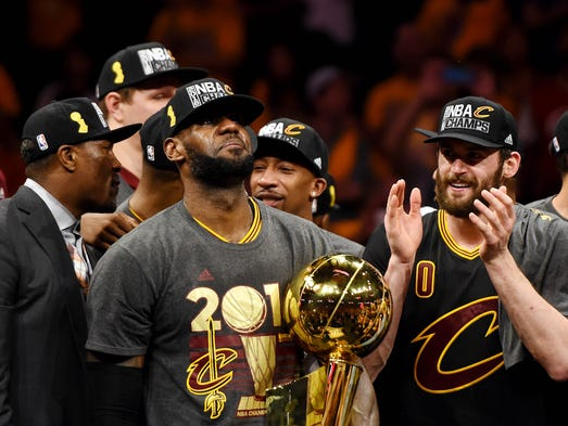 LeBron James fulfills promise to bring a title to Cleveland