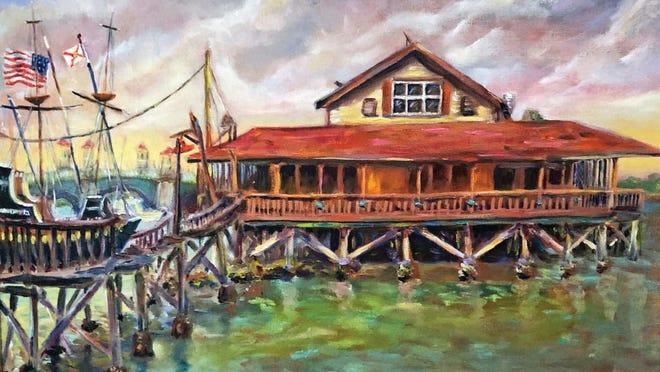 """Days Gone By (Santa Maria Restaurant)"" by Abby Howard Murphy"