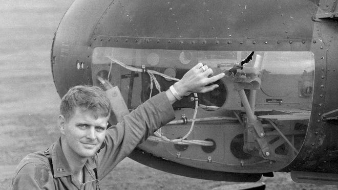 John Bercaw from his days flying helicopters as an Army aviator.