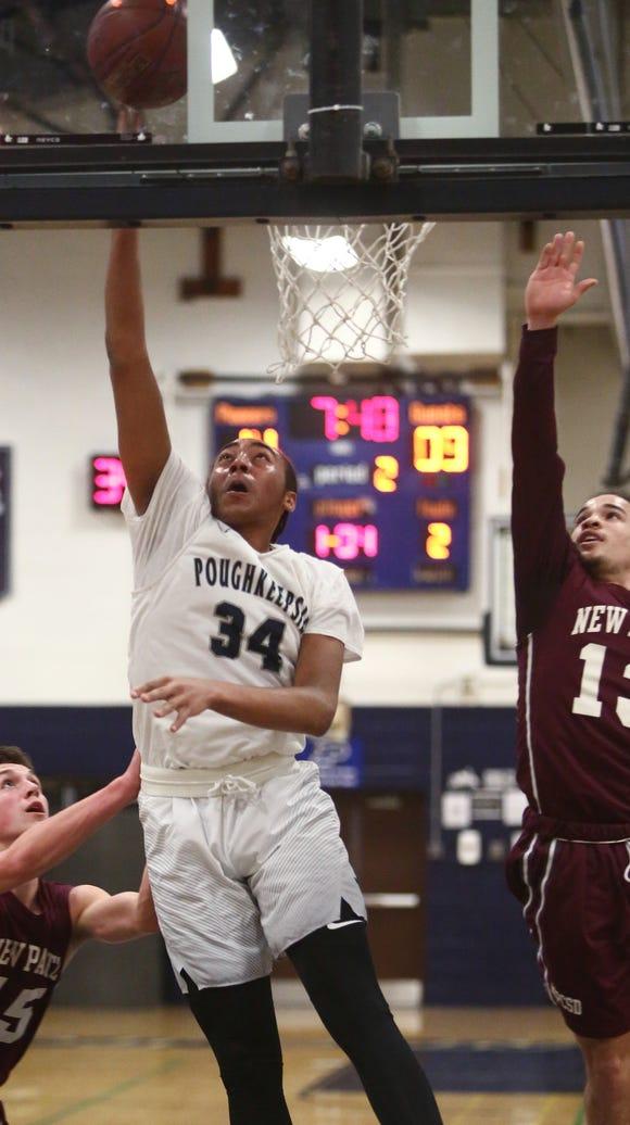 Poughkeepsie High School's Davontrey Thomas makes a