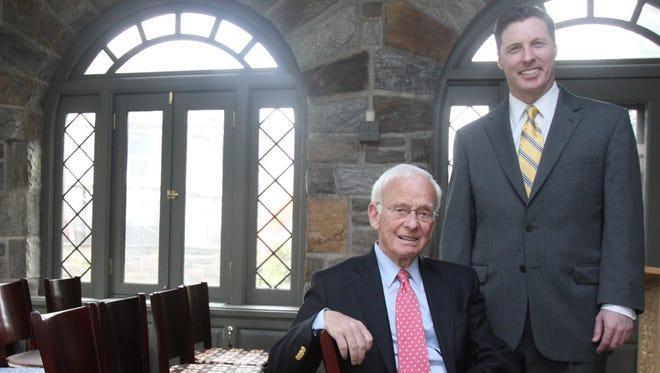 Rabbi Daniel Wolk, left, and William Hambleton, head of school, at Holy Child School in Rye.