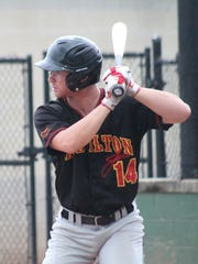 Ryan McClelland steps in for a swing for the Hamilton Joes against the Cincinnati Steam July 5.