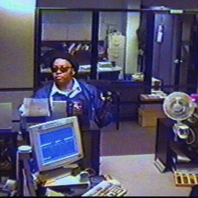 A security camera photo of the perpetrator during the