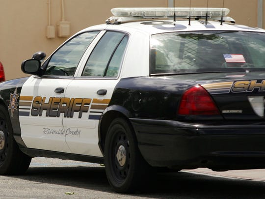 A Riverside County Sheriff's Department car.