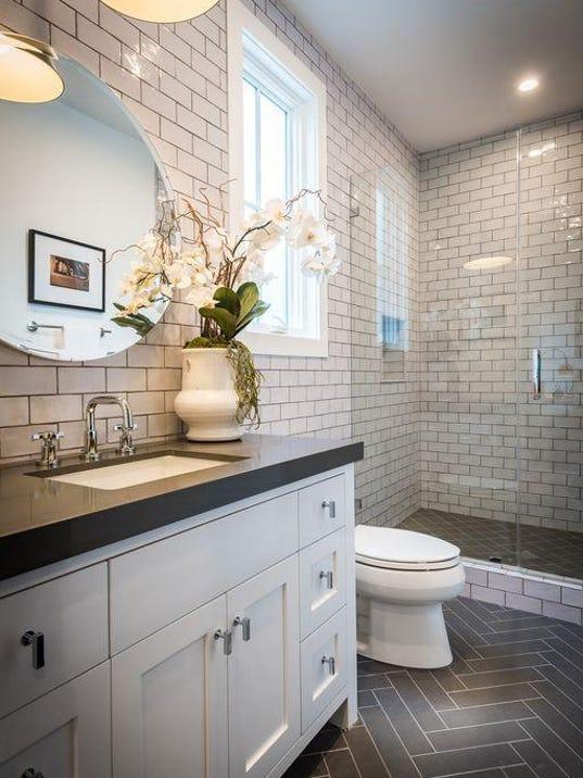 . New bathroom tile   makes a bathroom Wow