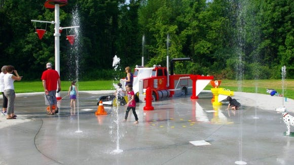 A look at the First Responders Spray Park in action last summer (M. Rosenberry)