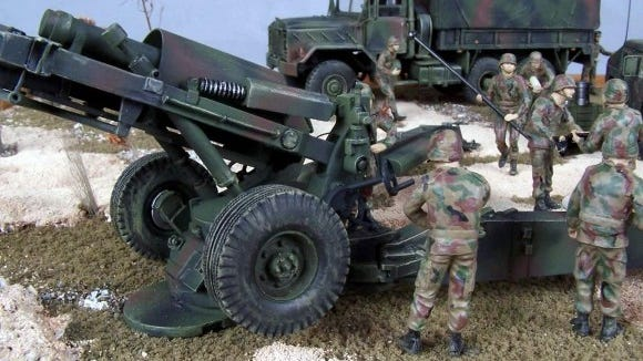 The details on some of these models is unbelievable, like on this 10th Mountain Division artillery piece. (Provided photo)