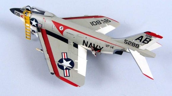 Model of a McDonnell F3H Demon (provided photo)