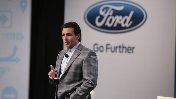 Ford CEO Mark Fields discussed the company's self-driving plans at an event on Monday.