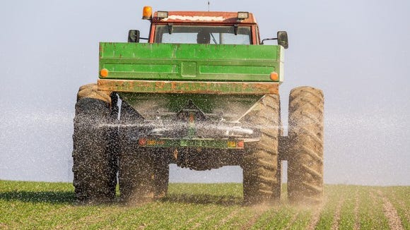 Farmers in Minnesota are using 10 to 15 percent more fertilizer than they need to maximize crop yields, state agricultural officials say.