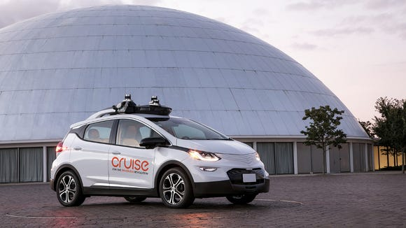 """GM's """"mass-producible"""" Level 4 self-driving vehicle is an elaborately modified Chevrolet Bolt EV."""