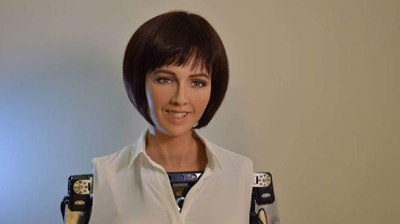 Picture of Sophia robot.
