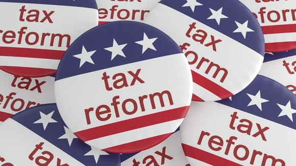 Tax reform buttons
