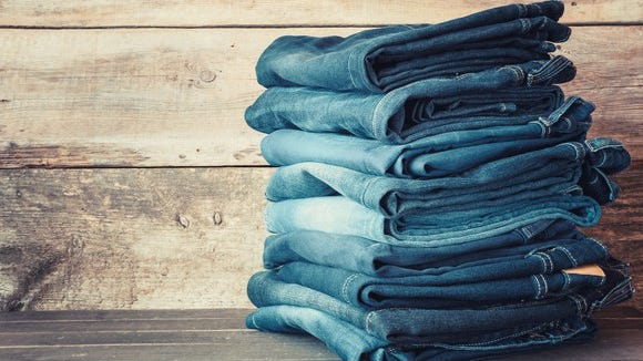 Denim jeans such as these would never get a thumbs up from the fashion mavens at Esquire.