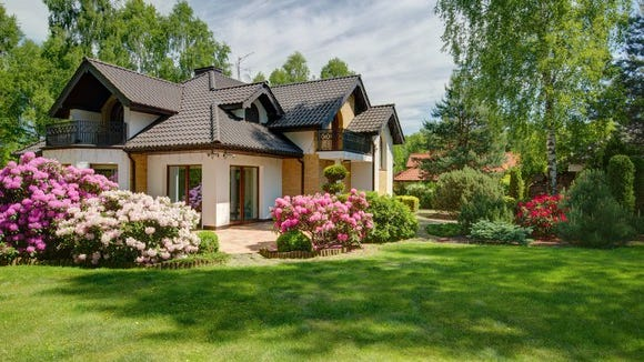House with attractive landscaping