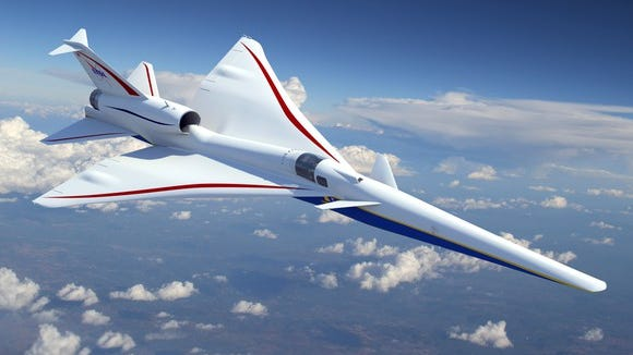 Artist rendering of Lockheed Martin's supersonic commercial concept.