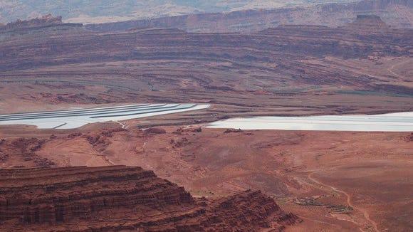 Potash production in the desert.
