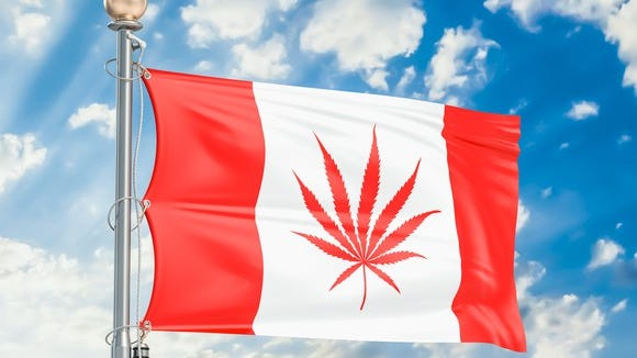 Marijuana will be legal for recreational use nationwide Oct. 17 in Canada.