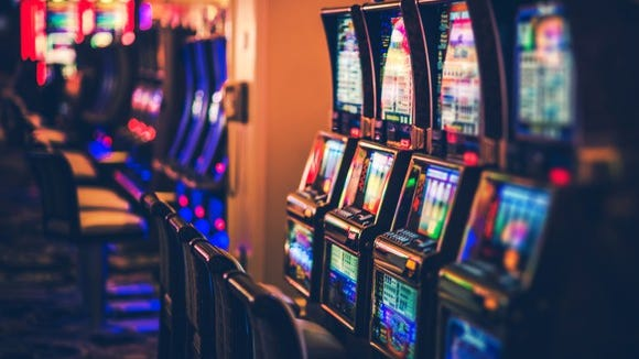 Slots in a casino.