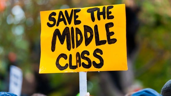 For the first time in decades, the middle class isn't shrinking.