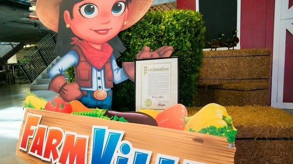 Manifesto pubblicitario di FarmVille Mall.