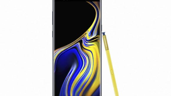 Samsung's Galaxy Note 9.