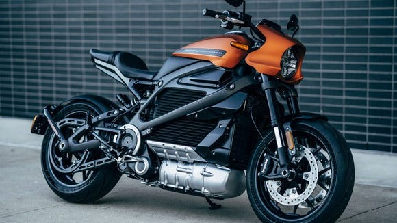 The all-electric Harley-Davidson LiveWire.