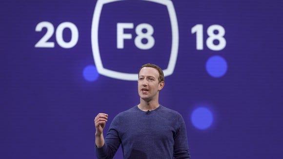Mark Zuckerberg at F8 2018.