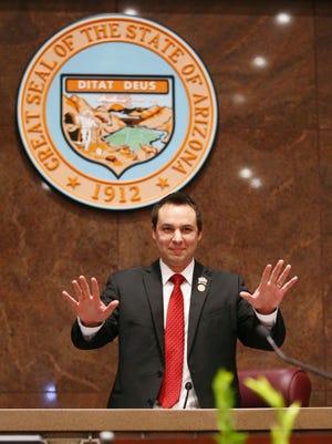 Speaker of the House J.D. Mesnard on the opening day of the Arizona Legislature on Jan. 9, 2017.
