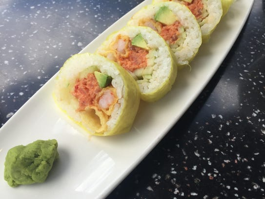 The Wave roll is an example of Kona's extensive sushi