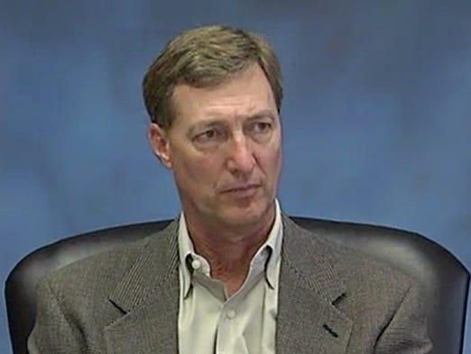 Scott Waddell during deposition.