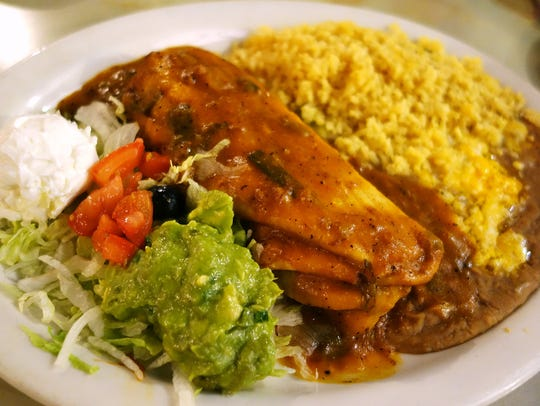 Trailing the Pack: Special Beef Chimichanga at Garcia's