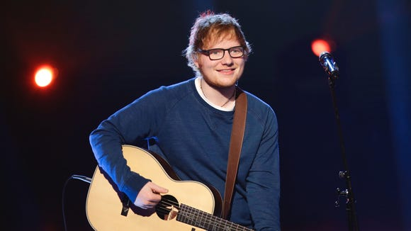 Ed Sheeran performs during the Italian State RAI TV