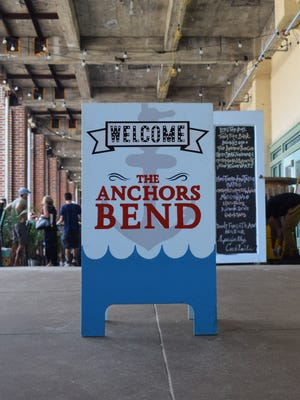 A sign that Neil O'Brien designed and painted for The Anchor's Bend in Asbury Park.
