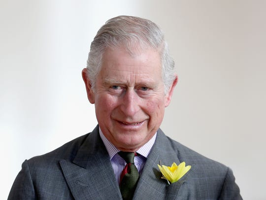 Prince Charles meets pupils and teachers involved in