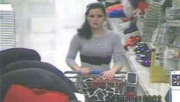 An image from video of the shoplifting suspect.