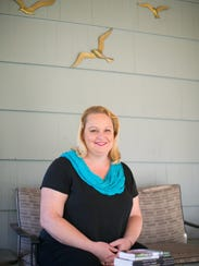 Author Amy Gamet at her home in Pittsford on Oct. 26,