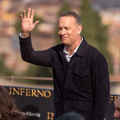 Actor Tom Hanks, at an 'Inferno' screening in Florence,