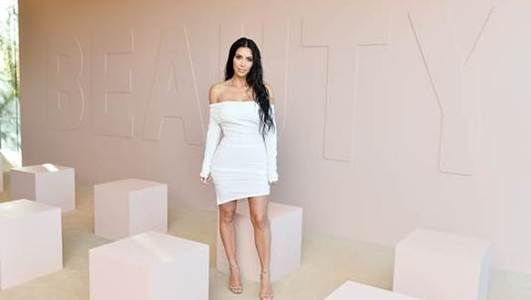 Kim Kardashian seen at the launch party for her new