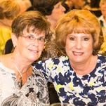 """Debbie Pica and Carol Behr. Viera Woman's Club hosted an """"An Evening of Fashions"""" at the Heritage Isle Club House, where approximately 250 attendees enjoyed the fashion show and a performance by """"Elvis."""""""