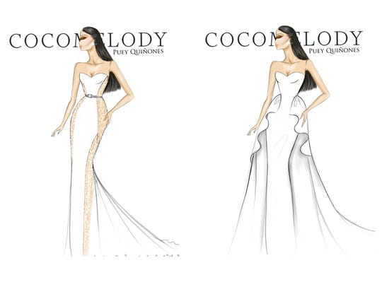 CocoMelody wedding dresses, designed for Lea Michele