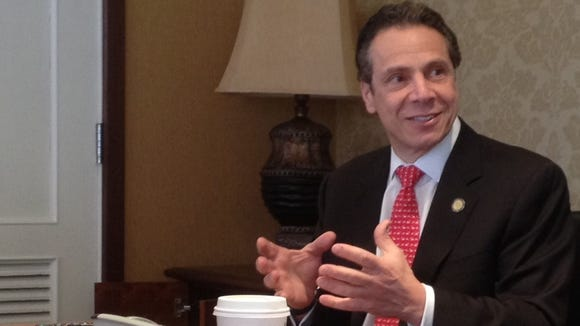 Gov. Andre Cuomo meets with the Editorial Board on Thursday, April 10.