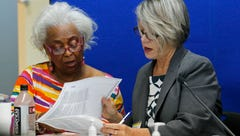 Dr. Brenda Snipes, left, Broward County Supervisor