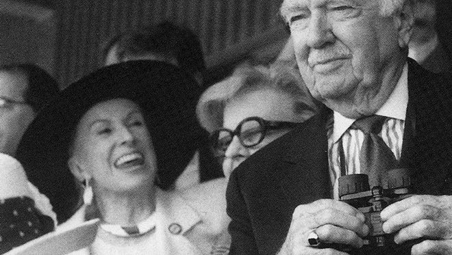 Mary Lou Whitney, left, Cronkite's wife Betsy, and Walter Cronkite at the Kentucky Derby.